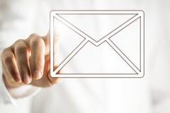 Значок электронной почты на виртуальном интерфейсе Стоковое Изображение RF