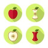 Значок Яблока плоский Стоковое фото RF