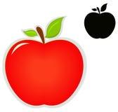 Значок Яблока Стоковое Изображение RF