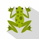 Значок лягушки, плоский стиль иллюстрация штока
