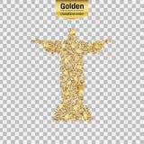 Значок яркого блеска золота Стоковые Изображения