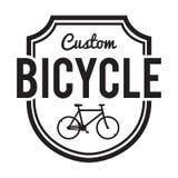 Значок/ярлык велосипедов Изготовленный на заказ велосипед Стоковая Фотография