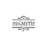 Значок для мелких бизнесов - косметика салона красоты Стикер, штемпель, логотип - для дизайна, сделанных рук Стоковая Фотография