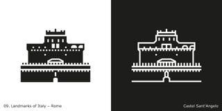Значок Angelo ` Castel Sant бесплатная иллюстрация