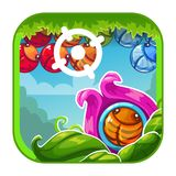 Значок app милого шаржа яркий Стоковое Изображение