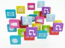Значок app мобильного телефона Концепция программного обеспечения Стоковое Изображение RF