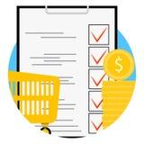 Значок app супермаркета планирования иллюстрация вектора