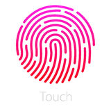 Значок app ID Иллюстрация вектора отпечатка пальцев Стоковые Изображения