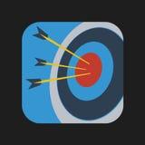 Значок Archery Стоковое Изображение RF
