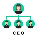 Значок CEO (главный исполнительный директор) Стоковые Изображения