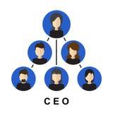 Значок CEO (главный исполнительный директор) Иллюстрация вектора