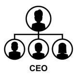 Значок CEO (главный исполнительный директор) Стоковое Изображение RF