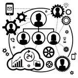 Значок CEO (главный исполнительный директор) Стоковое Изображение