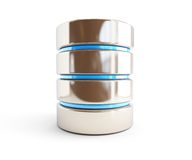 Значок 3d базы данных на белой предпосылке Стоковая Фотография