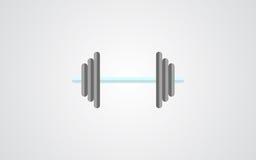 Значок Dumbell тень знака dumbell плоская иллюстрация штока