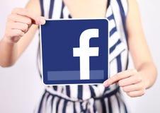 Значок Facebook Стоковое Изображение RF