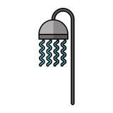 Значок faucet ванны изолированный иллюстрация вектора