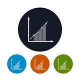 Значок Infographics, значок план-графика Стоковые Изображения