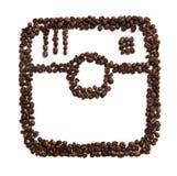 Значок Instagram на белой предпосылке Стоковое Изображение