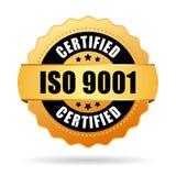 Значок Iso 9001 аттестованный бесплатная иллюстрация