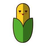 Значок kawaii свежего овоща мозоли изолированный стилем иллюстрация вектора