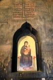 Значок Mary держа Иисуса стоковое изображение rf