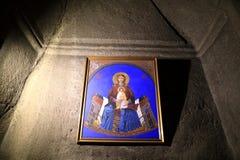 Значок Mary с Иисусом стоковое изображение