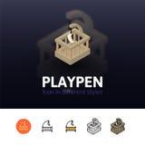 Значок Playpen в различном стиле иллюстрация штока