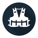 Значок PPE Носить спасательный жилет для изолята знака символа безопасности на белой предпосылке, иллюстрация EPS вектора 10 иллюстрация вектора