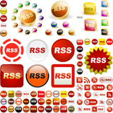 Значок RSS. Стоковое Изображение