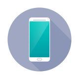 Значок Smartphone в круге Стоковое Фото