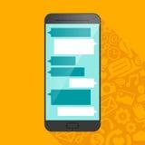Значок Smartphone с символами мультимедиа в тени Стоковые Изображения