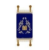 Значок Torah, плоский, стиль шаржа Перечень изолированный на белой предпосылке Иллюстрация вектора, зажим-искусство Стоковые Изображения