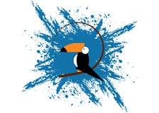 Значок Toucan Иллюстрация шаржа toucan значка вектора для сети Шаблона логотипа вектора стиля Toucan предпосылка splatter плоског Стоковые Изображения