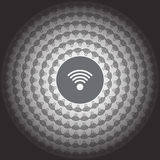 значок wi fi на предпосылке нерезкости Стоковое Фото