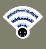 Значок wifi беспроводной сети, иллюстрация вектора Стоковая Фотография RF
