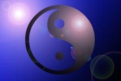 Значок Yin Yang лоснистый Стоковые Фотографии RF