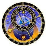 зодиак астрономических часов Стоковые Фотографии RF