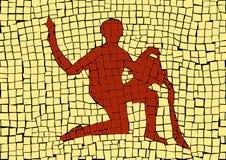 Зодиак водолея подписывает внутри мозаику бесплатная иллюстрация