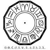 зодиак диаграммы Стоковые Фотографии RF