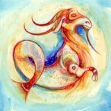 зодиак знака козерога Стоковая Фотография