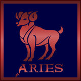 зодиак знака aries Стоковые Фото