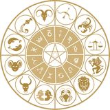 зодиак иконы установленный Стоковые Фото