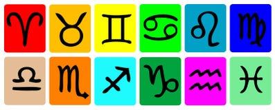 зодиак иконы установленный стоковые изображения