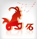 зодиак иконы horoscope козерога астрологии Стоковые Изображения RF