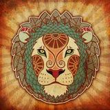 зодиак leo grunge иллюстрация штока