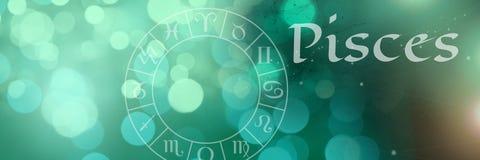 Зодиак Pisces мистический бесплатная иллюстрация