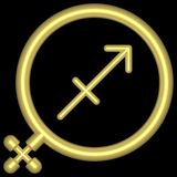 зодиак saggitarius 001 Стоковая Фотография