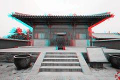 Зодчество традиционного китайския в 3D Стоковая Фотография RF