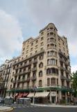 Зодчество фасада в Барселона Стоковая Фотография RF